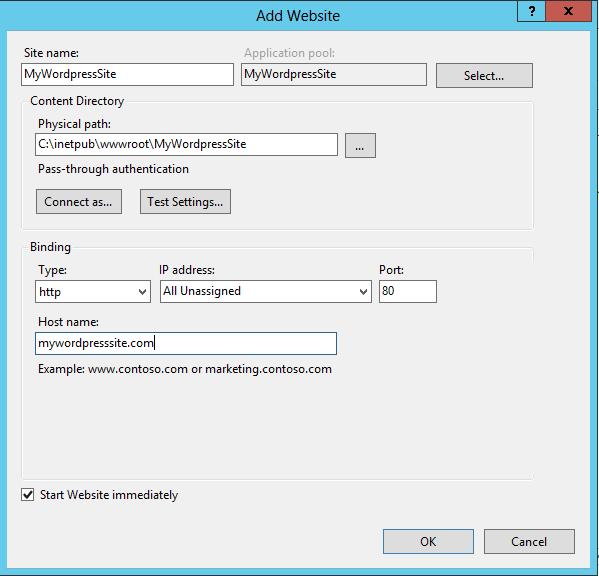 install wordpress on iis